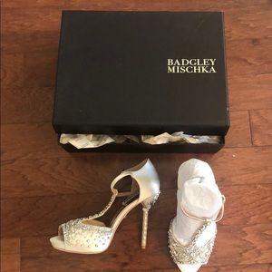 Badgley Mischka Stacey Crystal Embellished Heels
